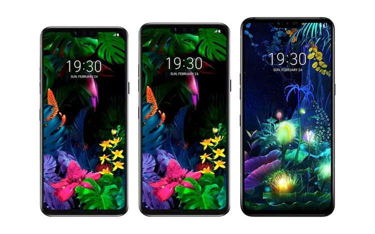 LG G8 ThinQ, LG G8s ThinQ e LG V50 ThinQ