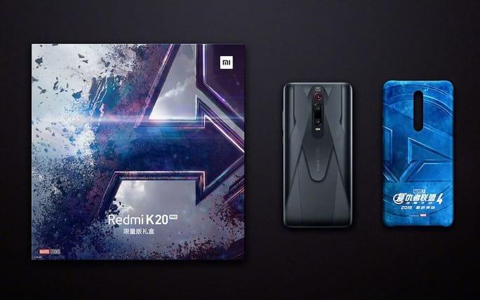 Redmi K20 Pro Marvel Hero Limited Edition conta com design exclusivo da Marvel, além de caixa e capinha protetora com o logo dos heróis.