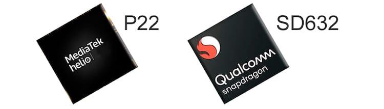 Mediatek P22 - MT6762 e Qualcomm Snapdragon 632