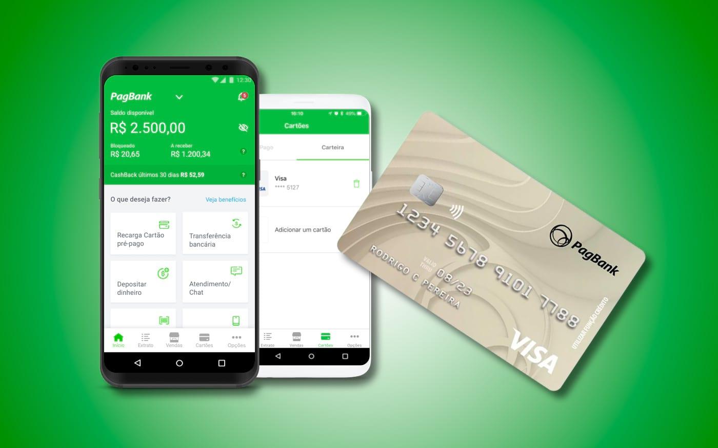 PagBank, traz agora cartão internacional Visa com NFC gratuitamente