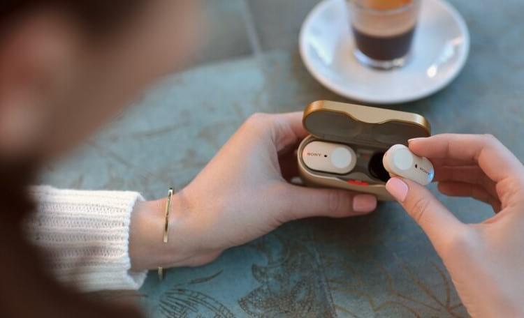 Case do in-ear true wireless Sony WF-1000XM3