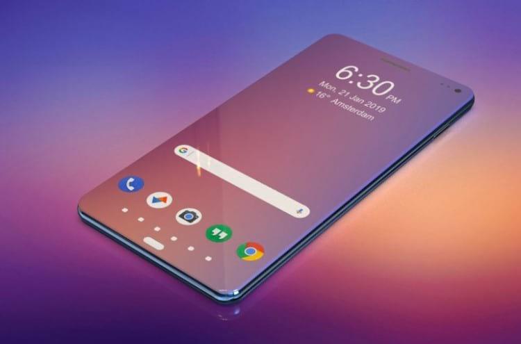 Renderização do Samsung Galaxy A100