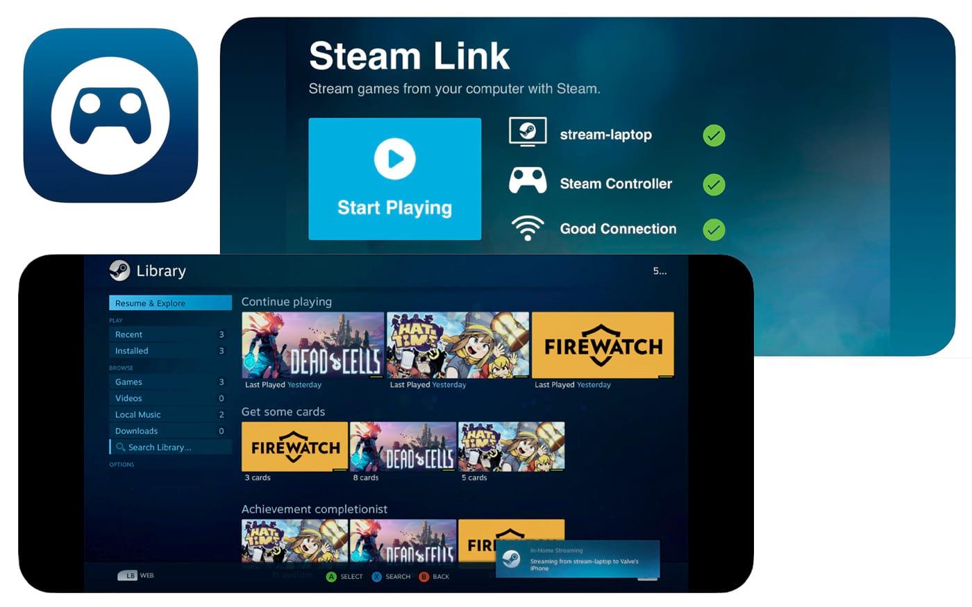Aplicativo Steam Link recebe atualização e traz agora suporte para controladores MFi