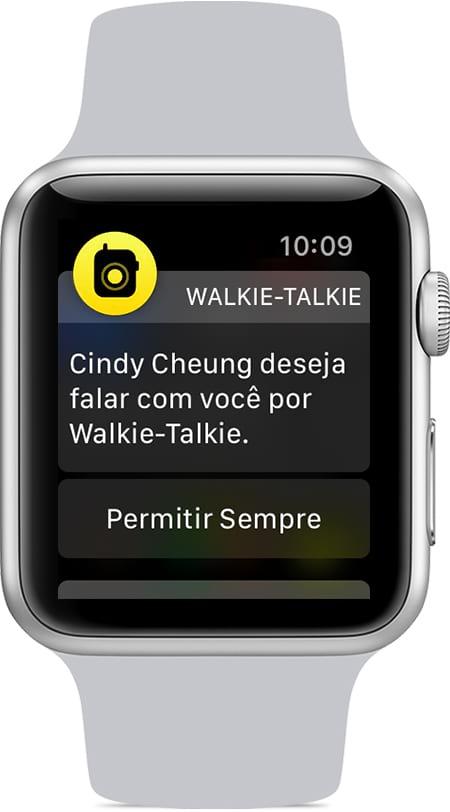 Para que dois usuários possam conversar por Walkie-Talkie, é preciso aceitar um convite e autorizar o aparelho a ter acesso ao microfone.