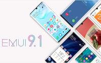 Mais seis telefones Huawei para receber o EMUI 9.1 este mês