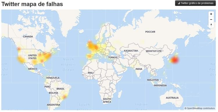Localização das instabilidades de acordo com as queixas de usuários