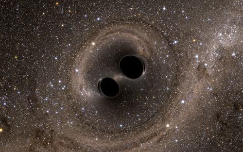 Astrônomos detectaram dois buracos negros supermassivos em rota de colisão