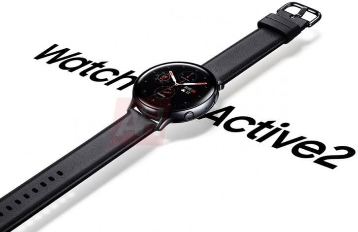 Renderização oficial do Watch Active2 vaza na internet.