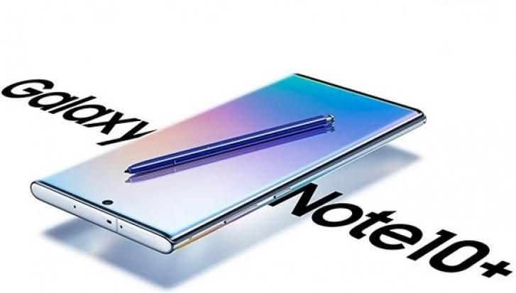 Nova renderização do Galaxy Note 10+ mostra sua parte superior.
