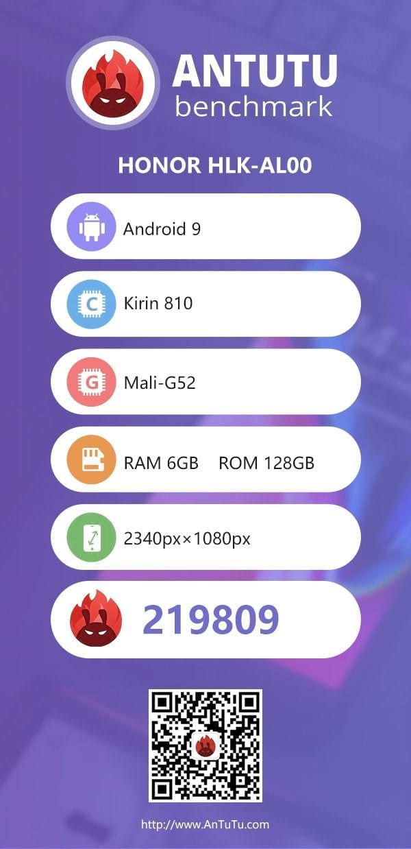Honor 9X aparece no AnTuTu e tem algumas especificações vazadas.