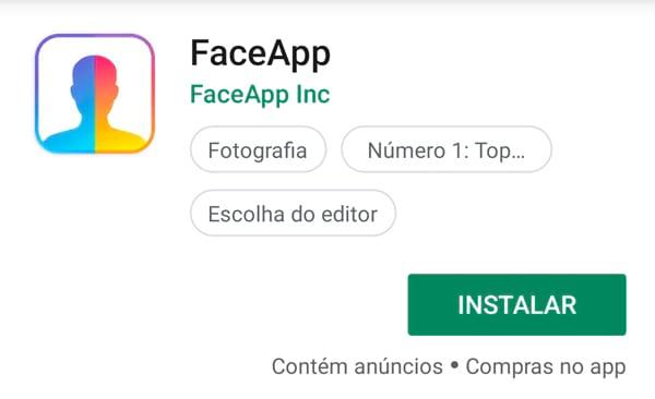 Instale o aplicativo e transforme suas fotos, fique mais novo, mais velho...