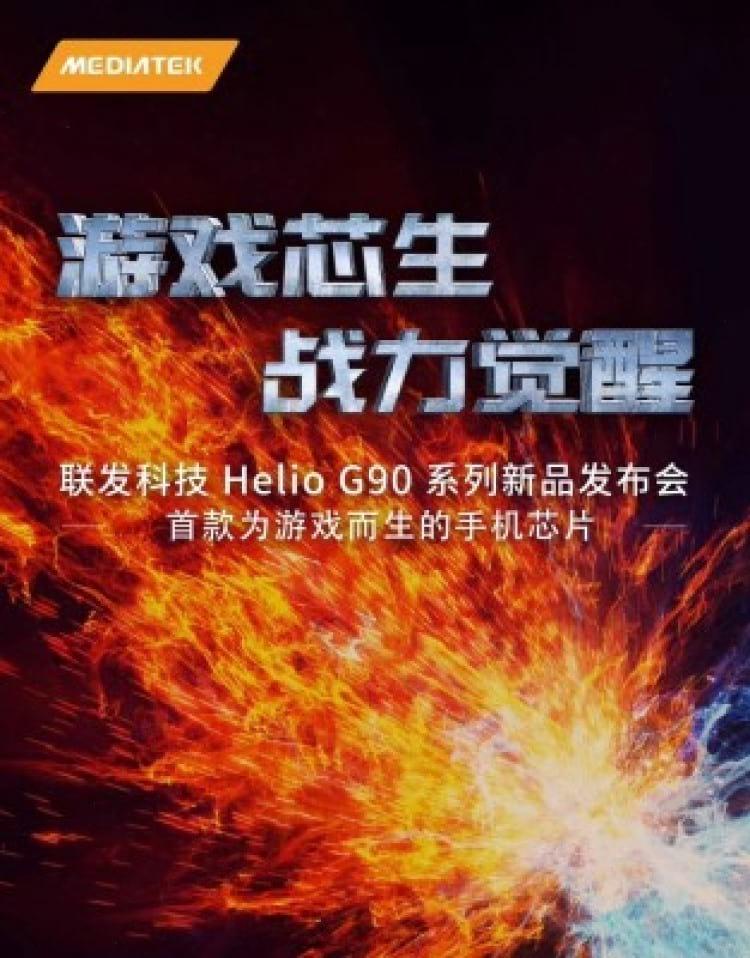 Banner do novo chip Helio G90