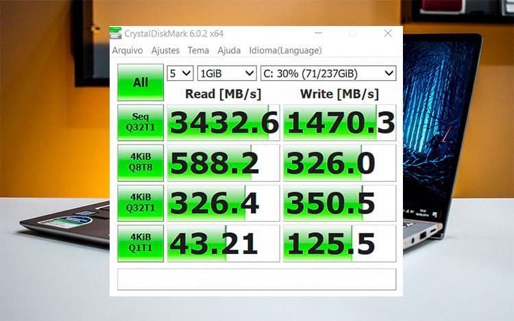 Velocidade SSD Zenbook 14