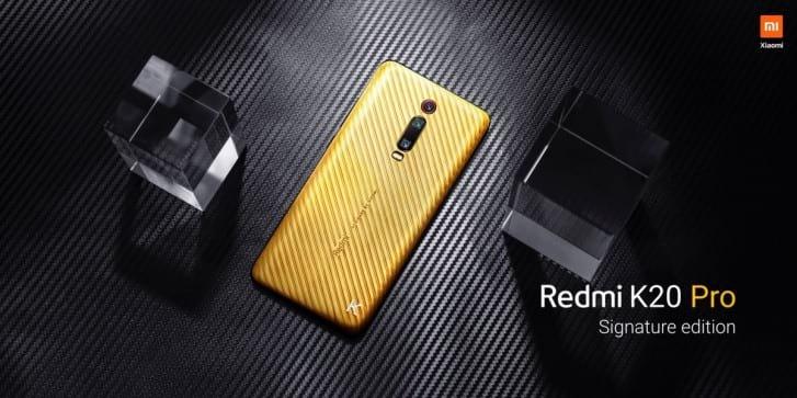 Redmi K20 Pro Signature Edition será feito de ouro e terá detalhe em diamante.