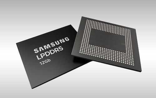 Samsung inicia produção em massa da 1ª memória 12GB DDR5 para smartphones