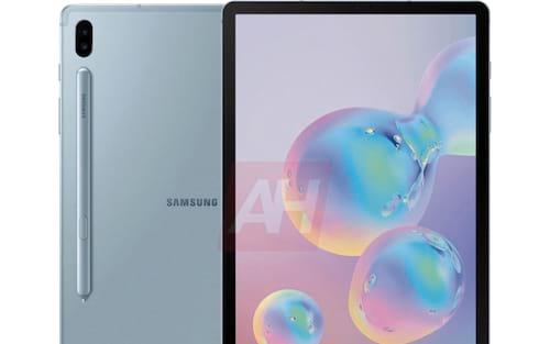 Renderizações oficiais de imprensa da superfície Samsung Galaxy Tab S6