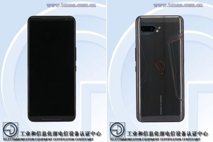 Imagens do ROG Phone II mostradas no TENAA indicam que leitor biométrico será integrado na tela.