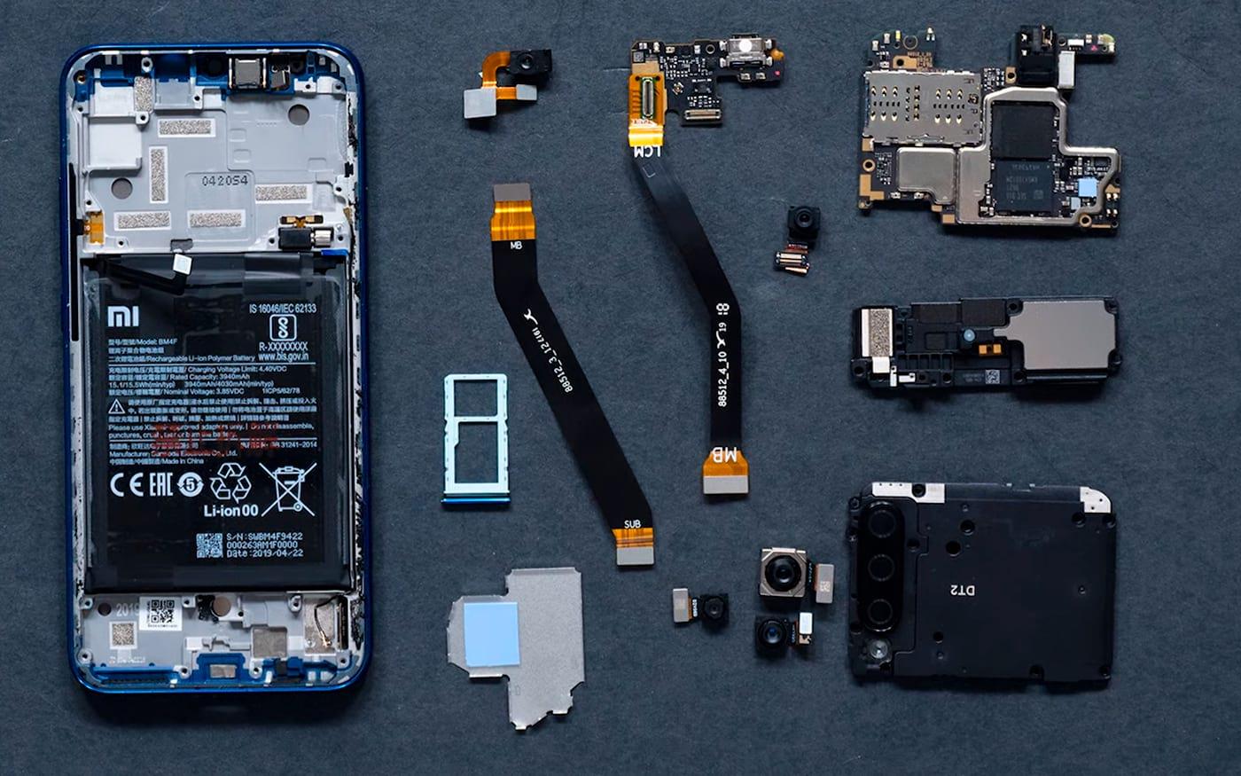 Xiaomi Mi A3 aparece em vídeo sendo desmontado