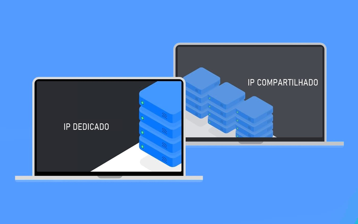 Qual a diferença do IP dedicado para o IP compartilhado?