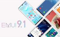 EMUI 9.1 estável chega a 10 smartphones da Huawei e Honor