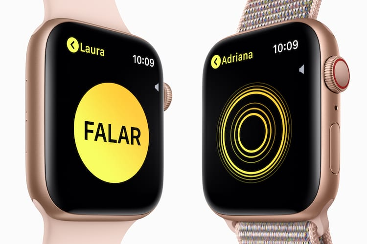 Walkie Talkie volta ao Apple Watch na versão 5.3 do sistema.