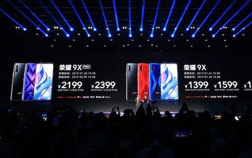 Honor 9X e 9X Pro são oficialmente revelados com uma câmera pop-up e chipset Kirin 810