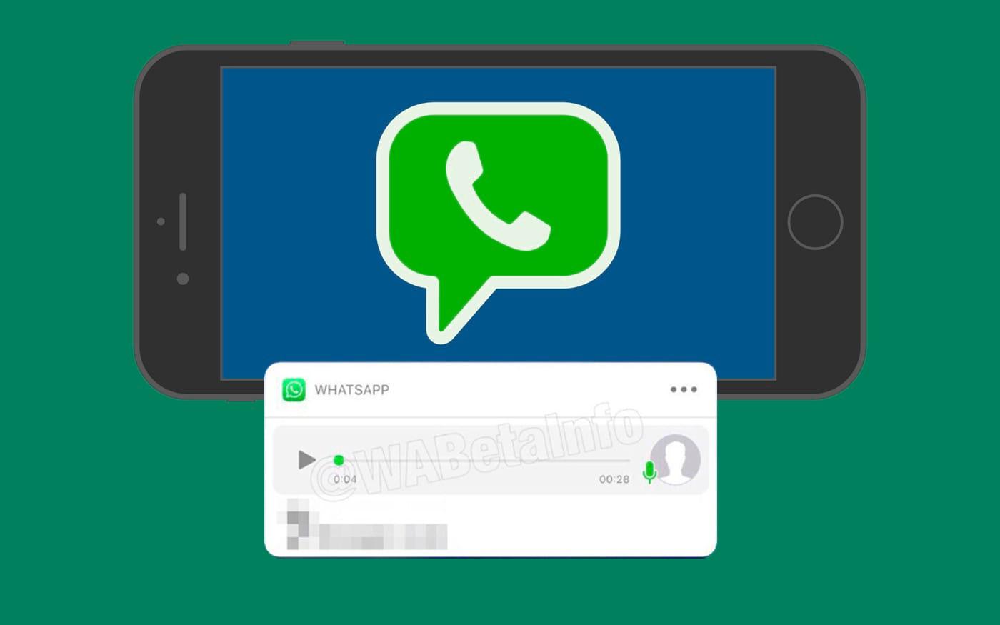 O WhatsApp ativará visualizações de mensagens de voz em notificações para usuários do iOS