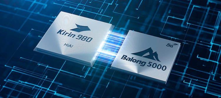 Kirin 980 e modem 5G Balong 5000