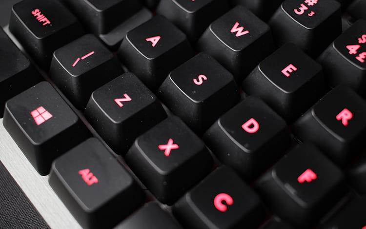 Fonte das keycaps é elegante