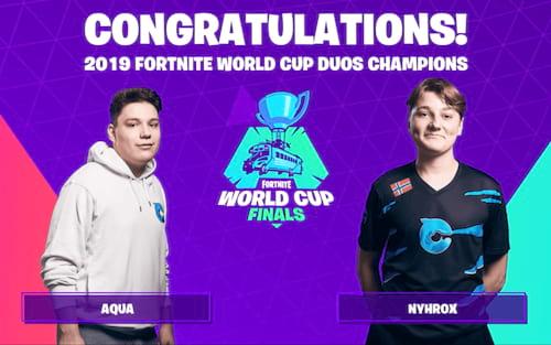 Fortnite World Cup: Os jovens 'Nyhrox' e 'Aqua' ganharam o prêmio de US$ 3 milhões