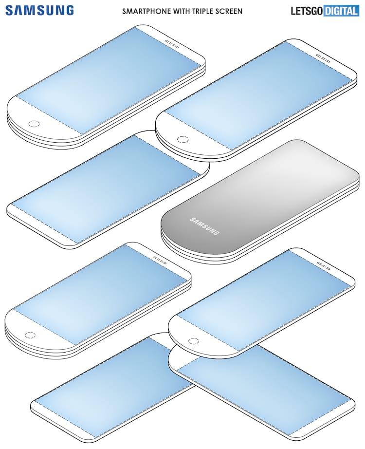 Imagens presentes na patente registrada pela Samsung