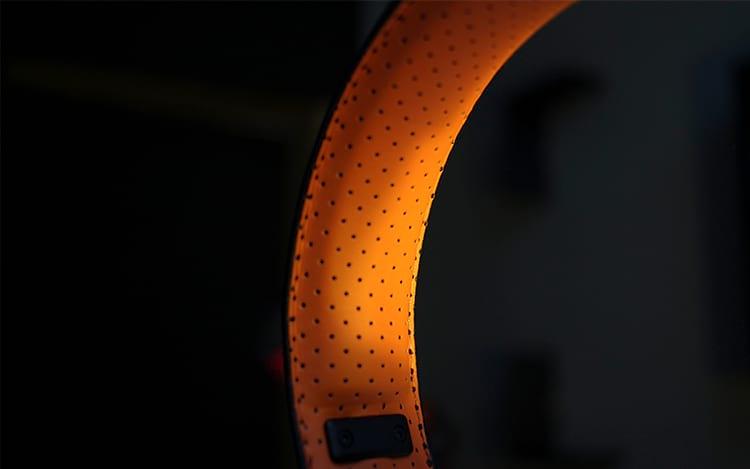 Courino laranja na Headband