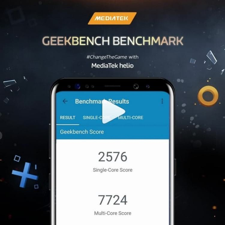 Benchmark do Geekbench do chipset Helio G90T