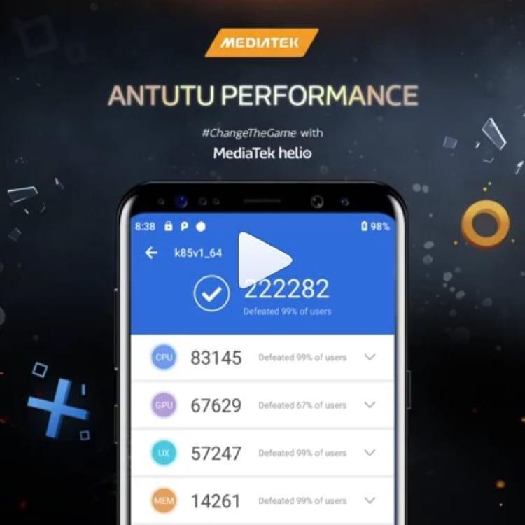 Benchmark do AnTuTu do chipset Helio G90T