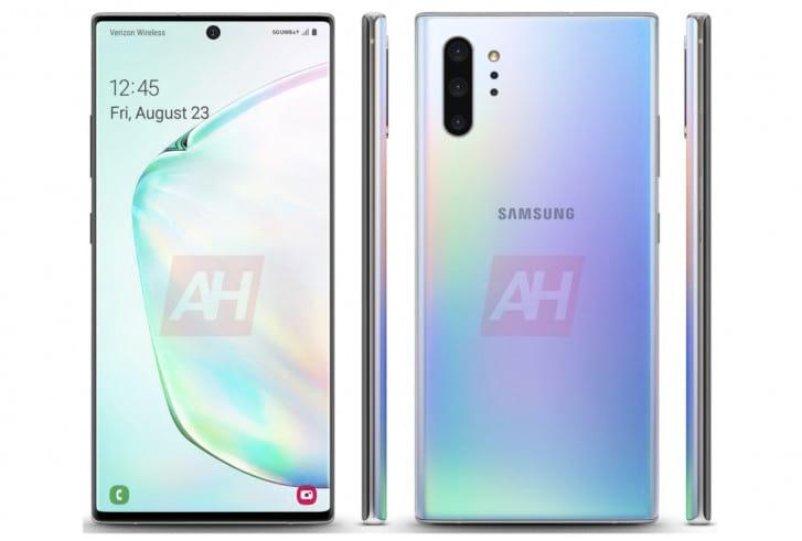 Renderização mostra o Galaxy Note10+ 5G em versão