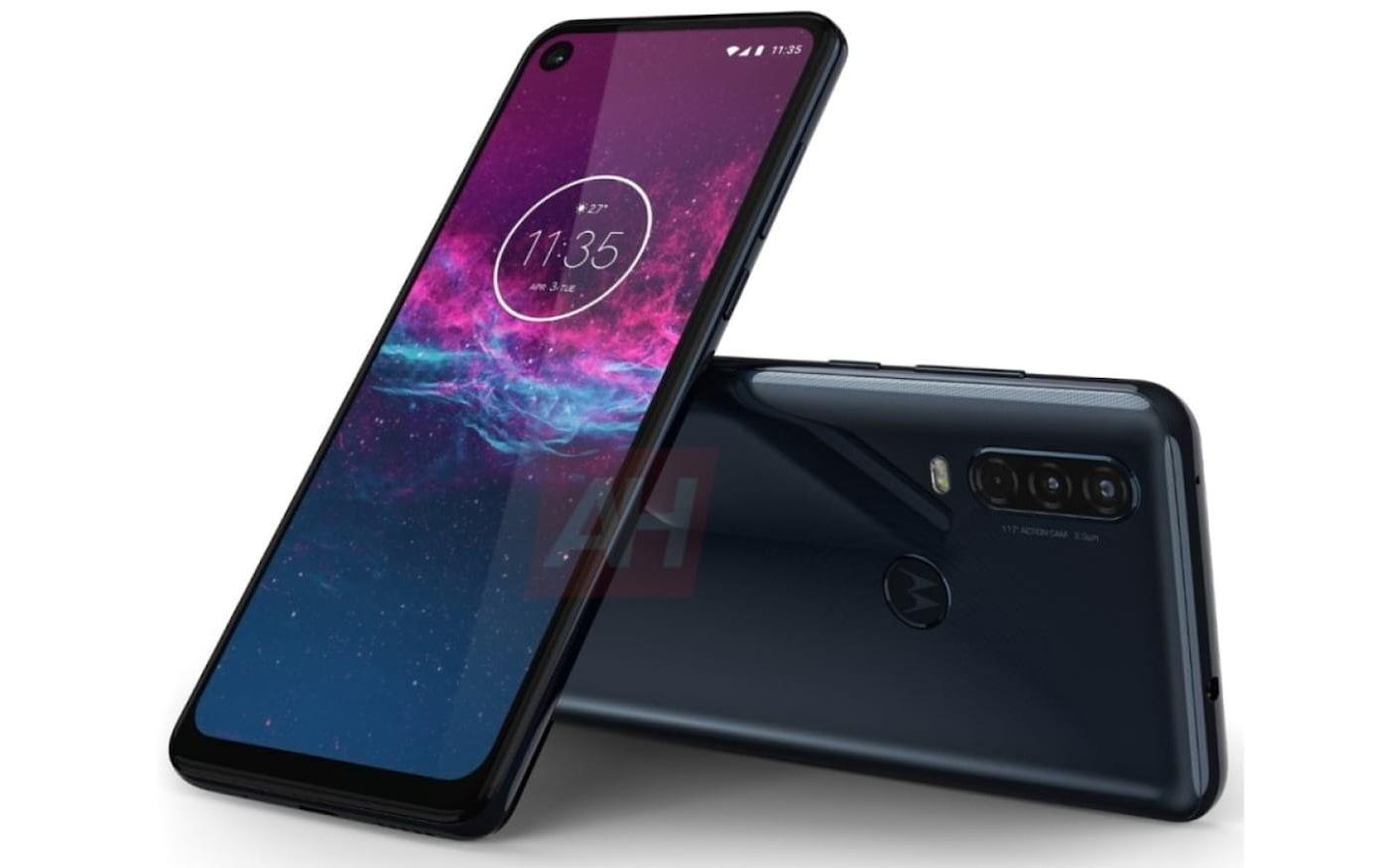 Renderizações oficiais do smartphone Motorola One Action são vazadas