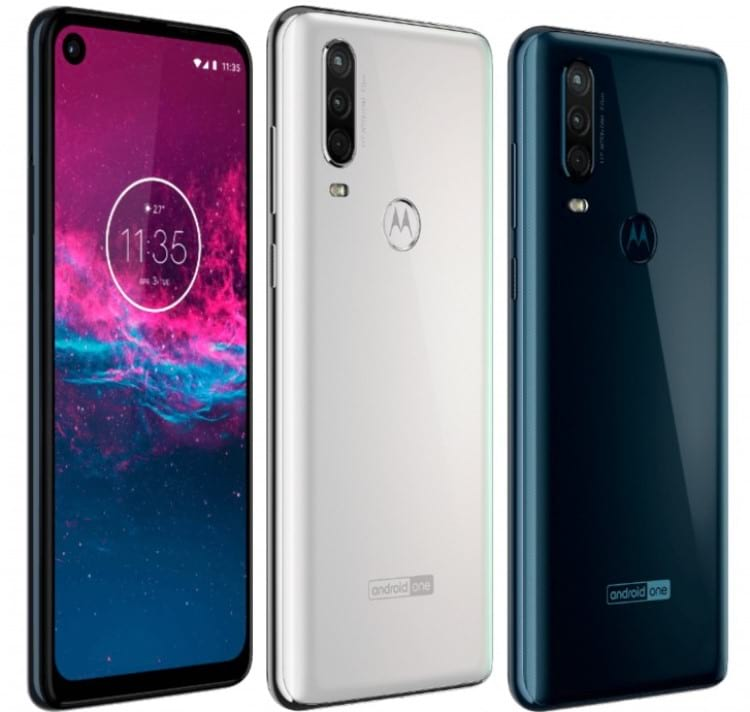 Renderização do smartphone Motorola One Action