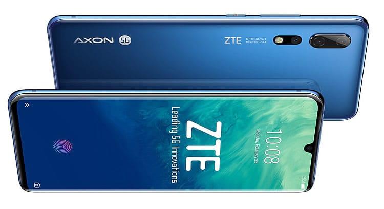ZTE Axon 10 Pro 5G foi o primeiro smartphone com 5G anunciado.