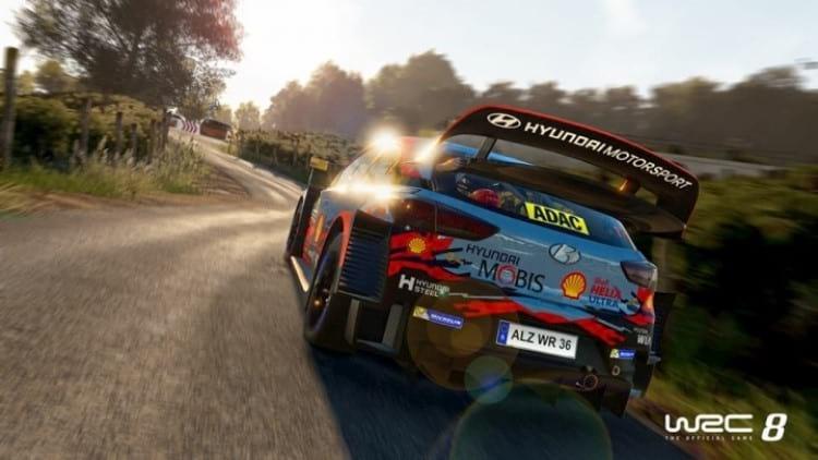 Simulador de rally WRC 8
