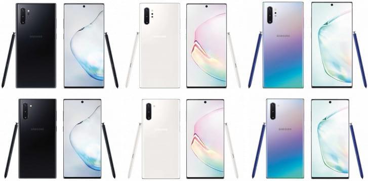 Galaxy Note10 e Note10+.