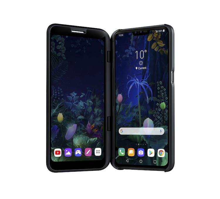 LG V50 ThinQ com acessório Dual Screen