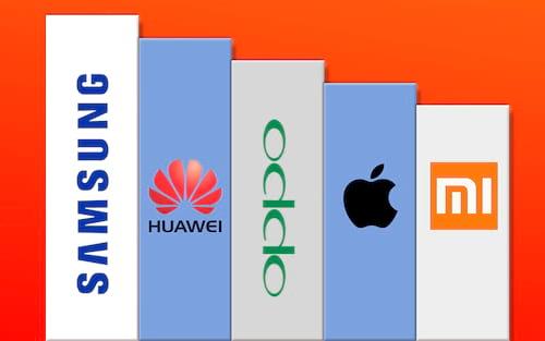 Samsung, Huawei e Oppo são as fabricantes que mais vendem smartphones no mundo