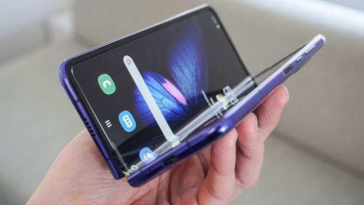 Galaxy Fold, o primeiro smartphone dobrável a ser mostrado ao público.