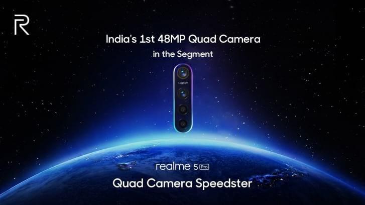 Realme divulga informação sobre câmeras do Realme 5 Pro.