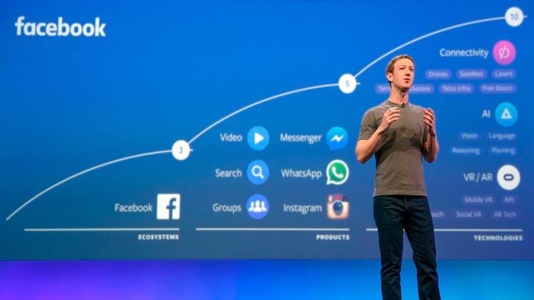 Mark Zuckerberg em apresentação que faça sobre seus planos de integração entre plataformas