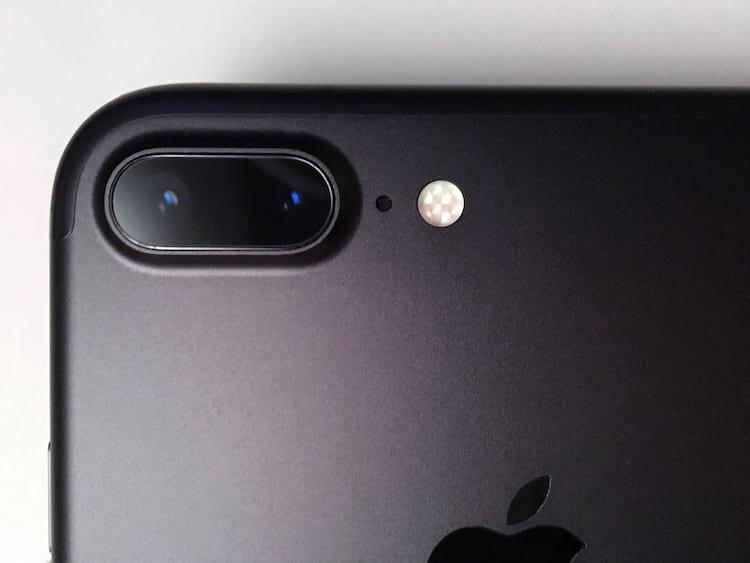 Câmera do iPhone 7 Plus.