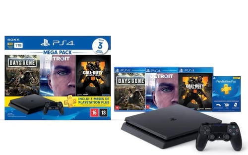 Sony anuncia PS4 Mega Pack, que traz bundle do console com 3 jogos por R$ 2.599