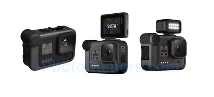 A GoPro Hero 8 pode suportar uma variedade de acessórios montados, incluindo uma tela e uma lanterna LED, de acordo com o vazamento.