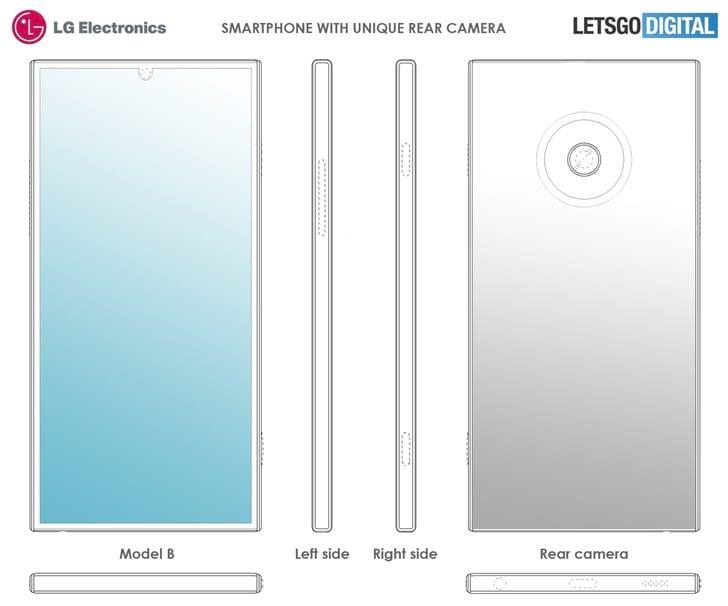 Patente da LG mostra câmera única traseira com tamanho superior aos atuais sensores presentes no mercado.