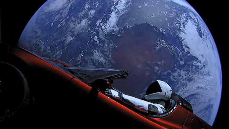 Starman: quando ele estava um pouco mais perto de casa. Fonte: SpaceX / Flickr